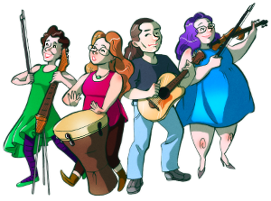 The Vixy and Tony band - drawing by Jade