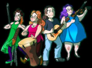 The Vixy and Tony band - drawing by Jade